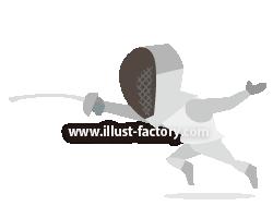 A233-01 2020 TOKYOオリンピック競技イラスト~フェンシング~