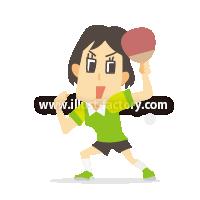 A233-05 2020 TOKYOオリンピック競技イラスト~卓球~