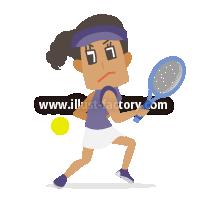A233-08 2020 TOKYOオリンピック競技イラスト~テニス~