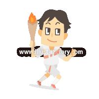 A233-09 2020 TOKYOオリンピック競技イラスト~聖火ランナー~