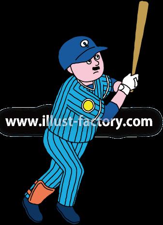 A240-07 野球選手・バッターのイラスト