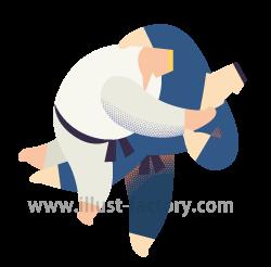 A253-04 スポーツ・柔道のイラスト