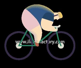 A253-07 自転車競技・競輪のイラスト