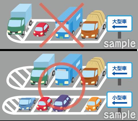 A38-29 交通ルールイラスト 駐車マスに正しく駐車