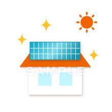 A45-08 太陽光発電 イラスト