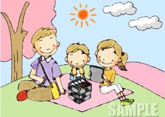 A51-05 家族のイラスト 手描き風タッチ
