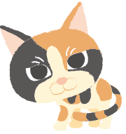 A55-26 三毛猫のイラスト