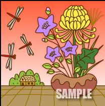 A61-30 花のイメージ