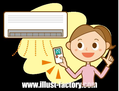 A65-01 エアコンの暖房設定