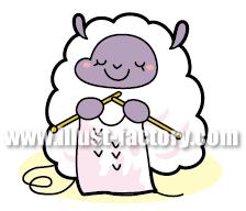 A99-3 羊の手芸イラスト制作