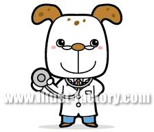 A99-4 犬のお医者さんイラスト制作