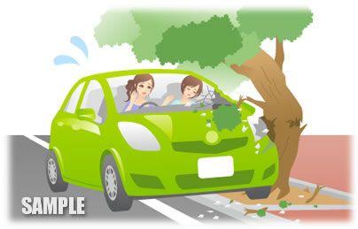 B22-07 交通事故のイラスト