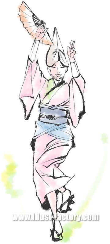 B56-06 踊り子タッチイラスト制作