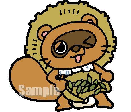 C54-03 タヌキキャラクター たぬ吉:茶摘みバージョン制作例 ポーズ展開