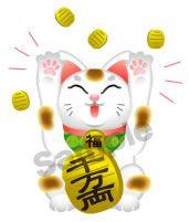 C59-09 招き猫キャラクター 喜ぶ