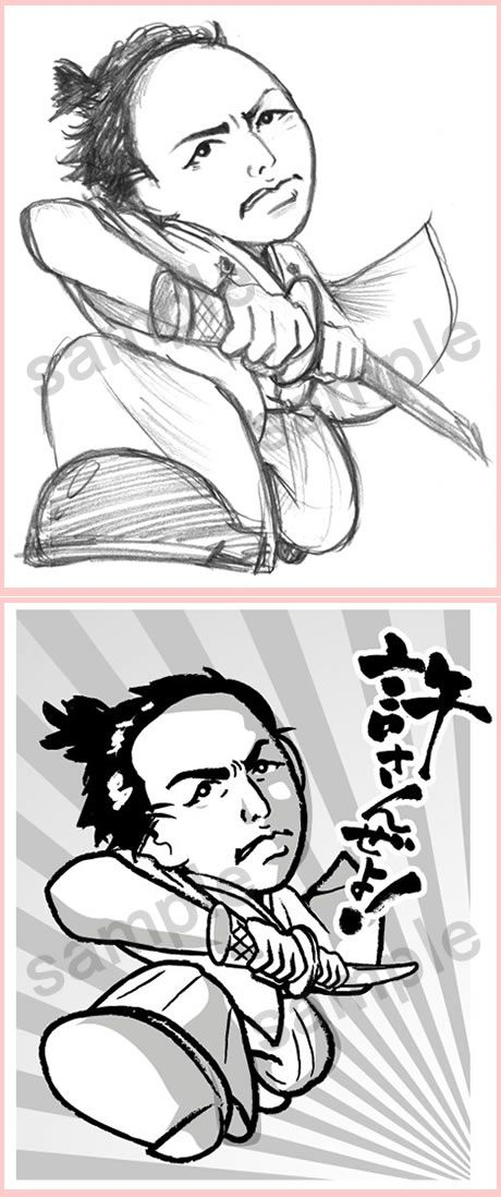 C63-02 時代劇風キャラクター提案書用ラフ