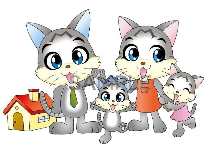 C68-01 猫の家族キャラクターデザイン例