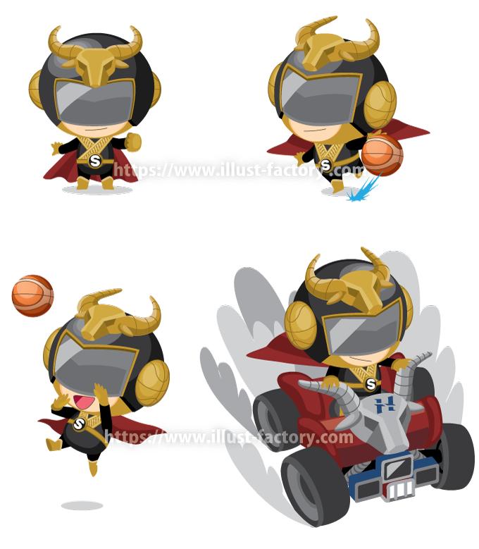 C94 バスケットボールチームのキャラクター