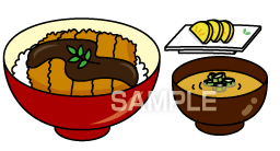 E15-9 カツ丼定食イラスト