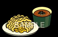 E15-10 つけ麺イラスト