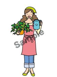 G07-26 花屋を経営している女性イラスト作成例