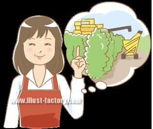 G101-10 農業する女性 人物イラスト