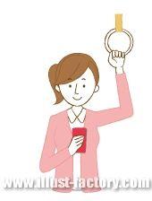 G102-01 スマートフォンを見ている女性イラスト