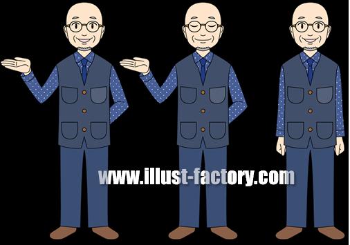 G125-01 動画用イラスト 案内する男性