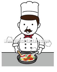 G138-02 イタリアン・料理人イラスト制作