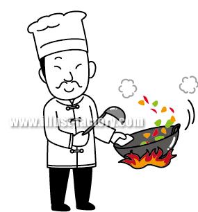 G138-04 中華料理人イラスト制作