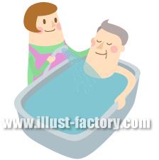 G1430-4 訪問入浴介護イラスト