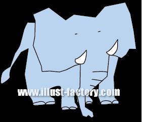 G163-01 象のイラスト