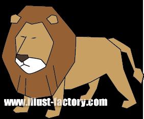 G163-04 ライオンのイラスト