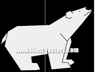 G163-07 白熊(ホッキョクグマ)のイラスト