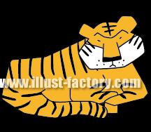 G163-12 虎のイラスト