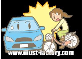G167-02 車と自転車の事故イラスト
