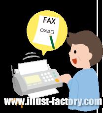 G172-04 ファックスで購入、注文人物イラスト
