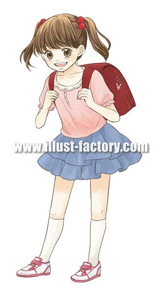 G177-02 女子小学生イラスト