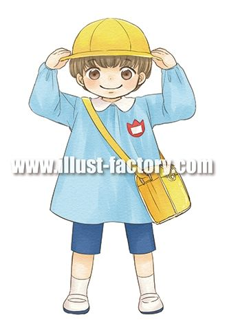 G177-05 幼稚園児イラスト
