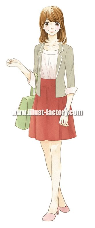 G177-08 若い女性のイラスト