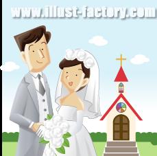 G17-10 結婚式のイラスト