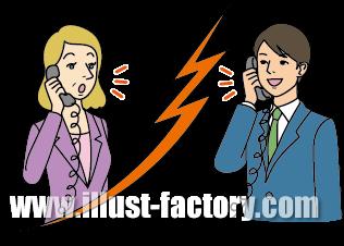 G180-03 ビジネスシーンイラスト制作 国際電話