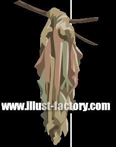 G184-02 リアル みの虫イラスト