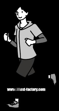 G185-11 ランニングをする男性イラスト