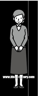 G185-04 人物 年配女性イラスト