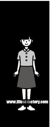 G185-06 人物 子供の女の子イラスト