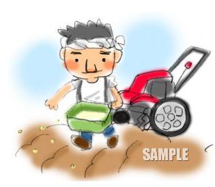 G19-01 農業 種をまいている男性挿絵
