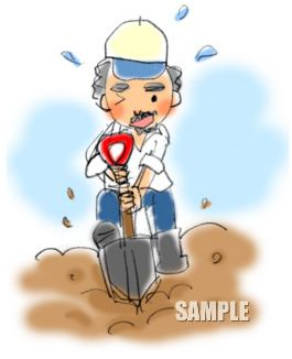 G19-02 農業 穴を掘っている男性挿絵