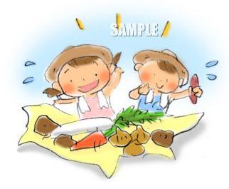 G19-05 農業 子供挿絵