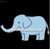 G208-05 ゾウのイラスト